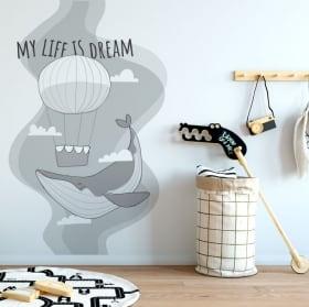 Vinyle décoratif phrase suivez vos rêves