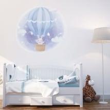 Vinyle et autocollants pour enfants lapin sur le ballon
