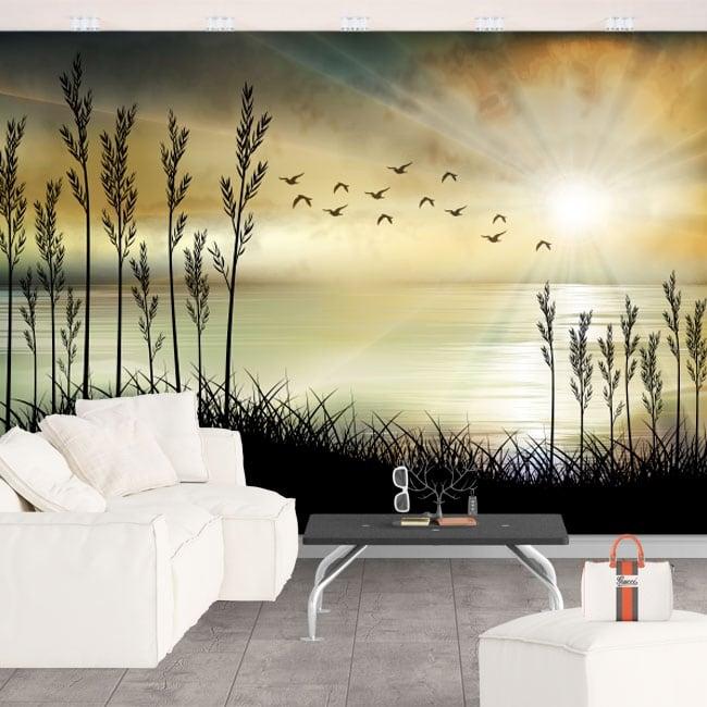 Papiers peints en vinyle illustration de paysage