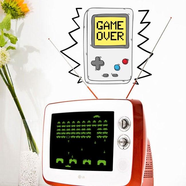 Vinyle décoratif jeux video game over