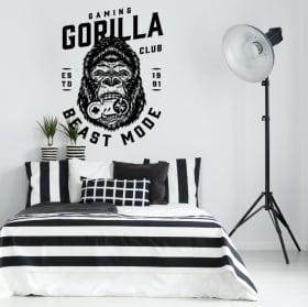 Vinyles et autocollants jeu vidéo gaming gorilla
