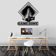 Vinyle décoratif jeux video zone de jeux