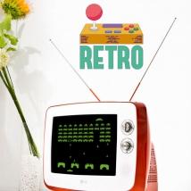 Vinyle décoratif jeux vidéo rétro