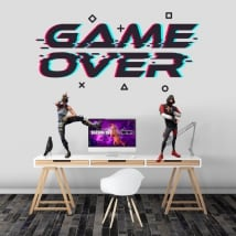 Vinyles adhésifs jeu vidéo terminé