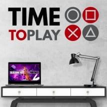Vinyles et autocollants jeux video time to play