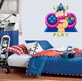Vinyles et autocollants jeux video let's play