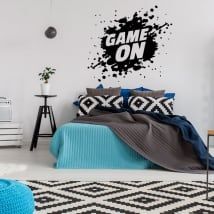 Vinyle décoratif jeux video game on