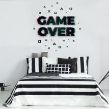Vinyle décoratif et autocollants game over
