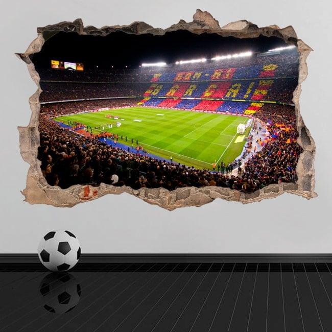 Vinyle et autocollants 3d stade de football du camp nou barcelona