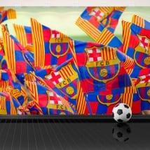 Autocollants muraux en vinyle drapeaux du barça