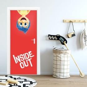Autocollants de porte disney inside out