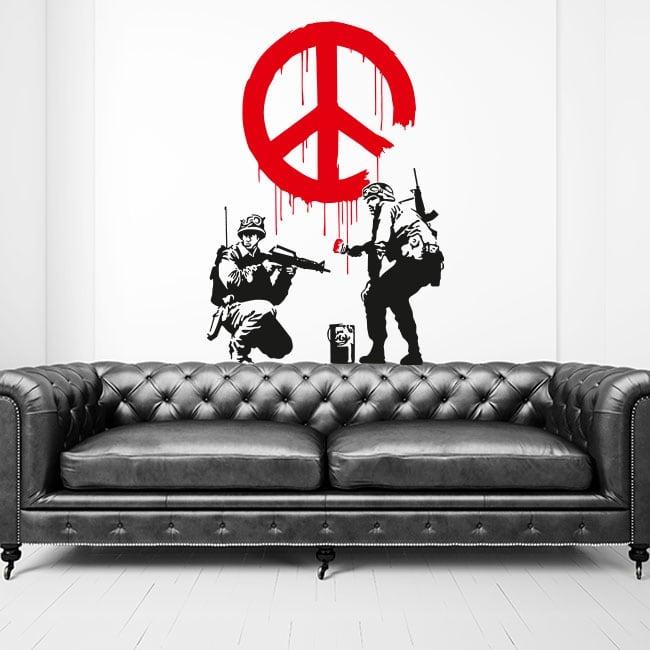 Vinyles et autocollants graffiti banksy