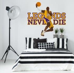 Autocollants en vinyle kobe bryant les lakers de los angeles basketball