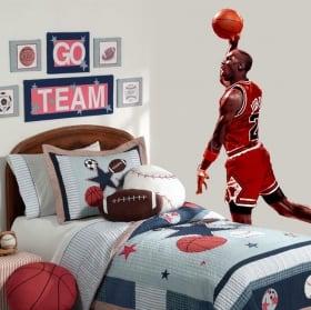 Vinyle décoratif michael jordan basketball