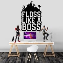 Vinyles adhésifs fortnite floss like a boss