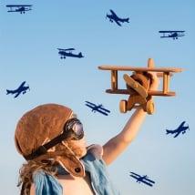 Vinyles décoratifs et autocollants kit avion