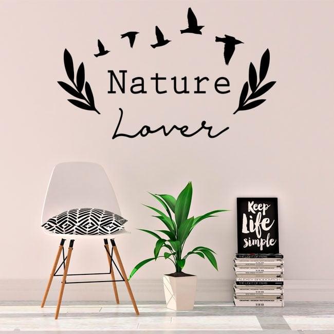 Vinyle et autocollants phrase anglaise amoureux de la nature
