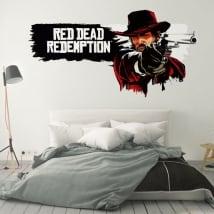 Vinyles et autocollants jeu vidéo red dead redemption