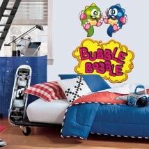 Vinyles et autocollants jeu vidéo bubble bobble