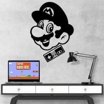 Vinyle et autocollants jeux vidéo rétro mario bros