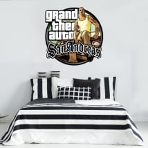 Vinyles et autocollants grand theft auto san andreas
