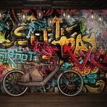 Peintures murales en vinyle graffiti urbain
