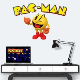 Vinyle et autocollants jeu vidéo rétro pac-man