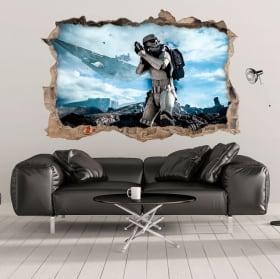 Vinyle et autocollants 3d stormtrooper star wars