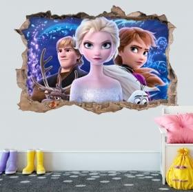 Vinyles décoratifs et autocollants 3d disney frozen 2