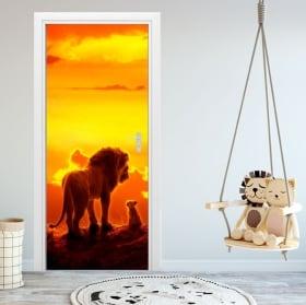 Vinyle pour portes et armoires disney le roi lion