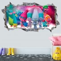 Vinyles décoratifs et autocollants 3d trolls