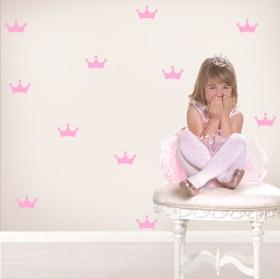 Vinyles et autocollants pour enfants kit couronne princesse