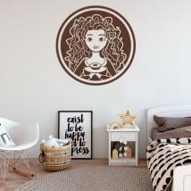 Vinyles décoratifs et autocollants disney brave indomptable
