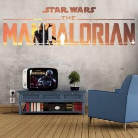 Vinyles et autocollants star wars le mandalorien