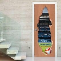 Vinyle pour portes 3d real madrid stadium