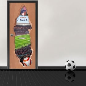 Autocollants de porte 3d stade wanda metropolitano atlético de madrid