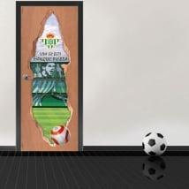 Autocollants de porte 3d stade de football benito villamarín real betis balompié