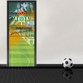Stickers pour portes de stade de football benito villamarín real betis balompié