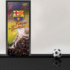 Vinyle pour portes stadium camp nou barcelona