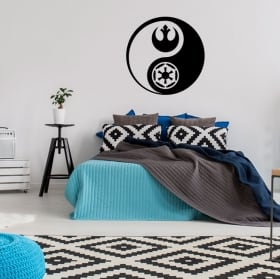 Vinyles et autocollants yin yang star wars