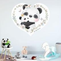 Vinyles décoratifs et autocollants pour enfants ours panda