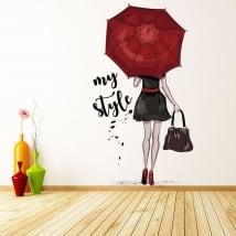 Vinyles décoratifs et autocollants femme silhouette mon style