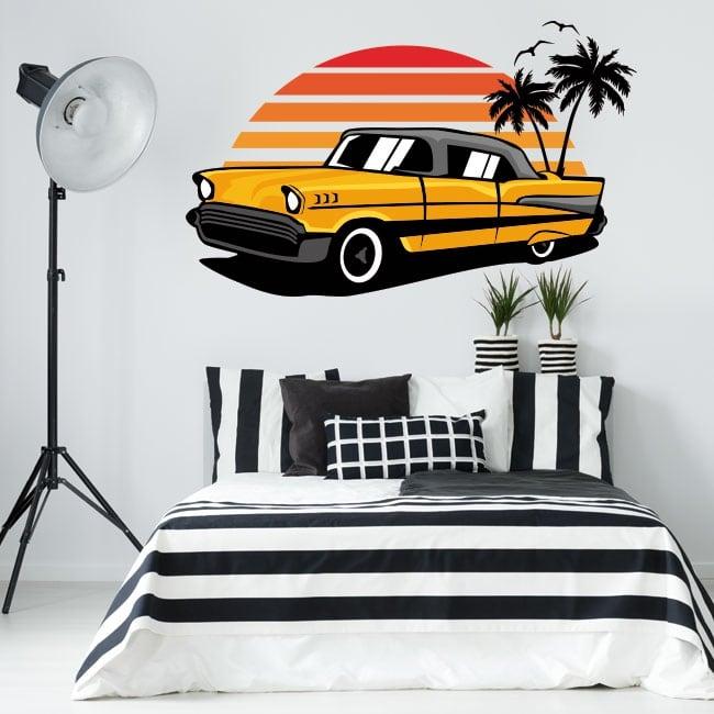 Vinyles décoratifs et autocollants voiture de style rétro