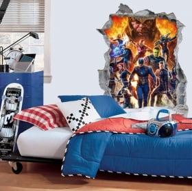 Vinyles décoratifs 3d marvel avengers endgame