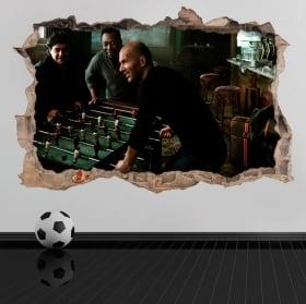 Autocollants en vinyle 3d football maradona avec pelé et zidane