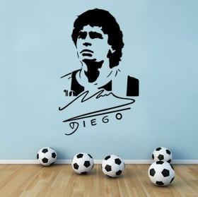 Autocollants et vinyles de football maradona