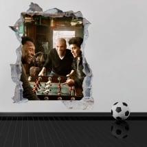 Stickers muraux de football 3d maradona avec pelé et zidane