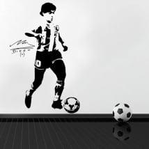 Vinyles décoratifs et autocollants de football maradona
