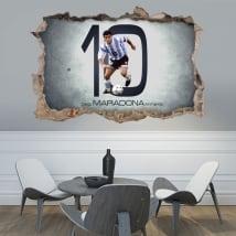 Vinyle adhésif 3d football maradona
