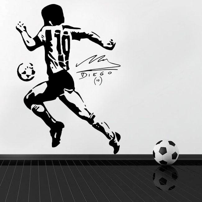 Autocollants en vinyle football maradona